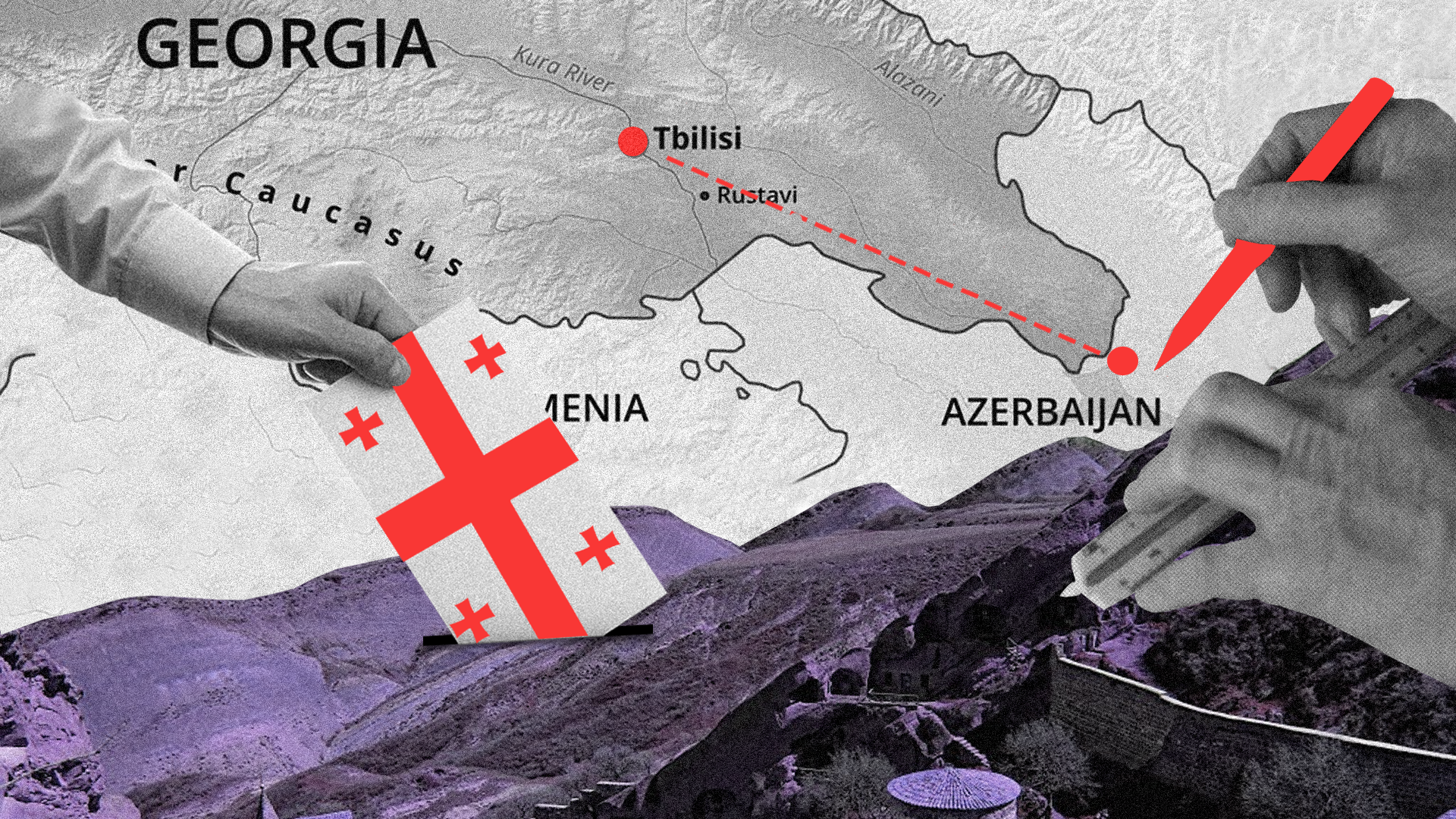Georgia's parliamentary elections plagued by rekindled dispute about the border with Azerbaijan